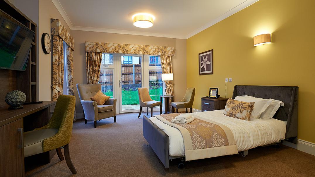 Claridge Place, bedroom, Altida bed, side view